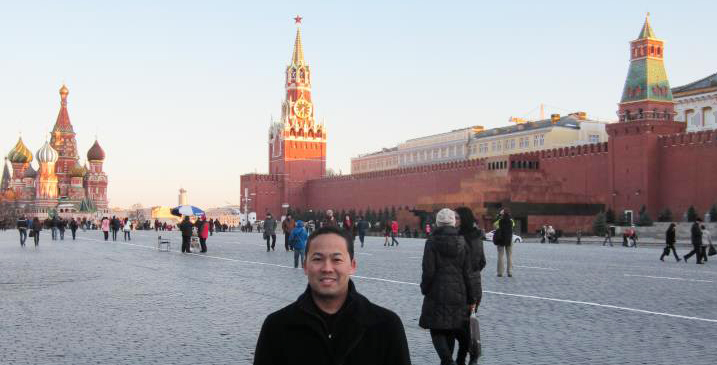 Sasaki in Red Square, Moscow