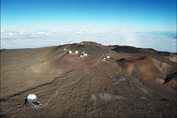 An artist concept illustrating the TMT Observatory at the proposed site on Mauna Kea. (Photo: Thirty Meter Telescope)