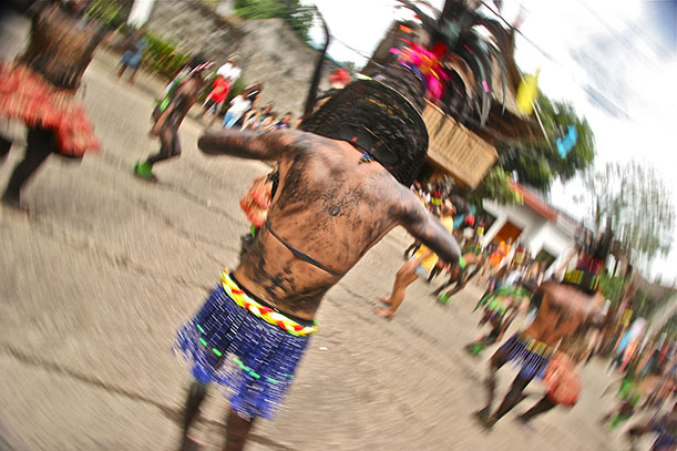 A dancer during the Sinulog festival (Photo: J. Burden)