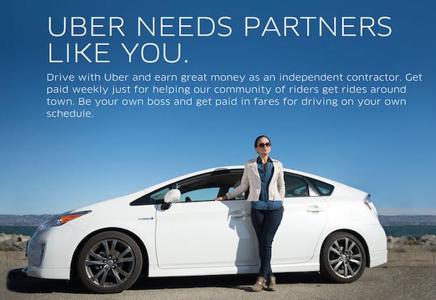 Screen capture From uber website: https://get.uber.com/drive/